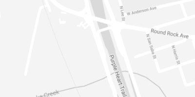 Map to Brush32 of Round Rock
